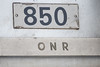 Number plate on coach 850.
