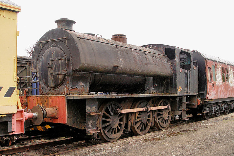 3777 Hunslet 0-6-0St at the Strathspey Railway