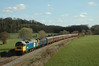 47847 + 47839 5Z47 1032 Derby - Bishops Lydeard	Empty Charter Stock passes Longlands Farm on the WSR