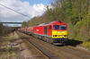 60063 approaches Hessle at 08:54 on Wednesday 25th March 2015 with the 07:31 Masborough F.D. - Hedon Road Sidings steel hoods.