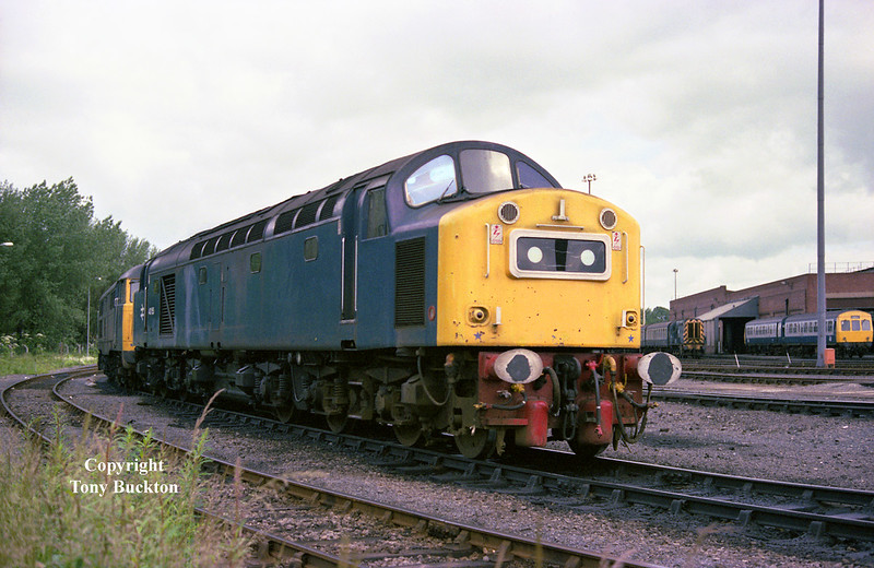 40155 stands at Hull Botanic Gardens on June 23rd 1984.