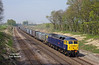 47843 approaches Ferriby at 11:30 on Friday 24th April 2015 with the 4D94 10:14 Doncaster Down Decoy - Hull Coal Terminal empty gypsum containers.