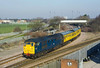 31106 departs Hessle Rd Jnc, Hull at 09:11 on Tuesday 8th March 2011, with 2Q88 Doncaster - Hull - Healey Mills - Drax Track Inspection Train.