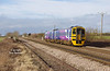 158849 approaches Lowfield Lane, Melton, forming the 1W10 10:26 Sheffield - Driffield, on Sunday 7th Feb 2016.