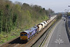 66725 passes Hessle with the 6D72 11:32 Hull Dairycoates - Rylstone  empty Tarmac hoppers on Thursday 3rd April 2017.