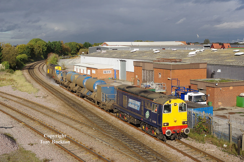 20308 & 312 pass Hessle Rd Jnc, Hull, in an incredibly lucky burst of sunlight at 15:04 on Saturday 25th October 2014, with the 11:02 Stocksbridge Works - York Thrall Europa RHTT.