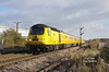 Running around 45 mins late, 43014 leads the 11:48 Hull - Heaton T&R S.M.D test train past Lowfield Lane, Melton, on Saturday 5th November 2016. Severe delays were being experienced by all workings during the 45 mins or so I was at this location, with a constant procession of trains being brought to a stand at both the signal at this location and those beyond Melton Lane crossing in the distance.