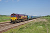 66140 passes Welton at 1558 on Wednesday 14th May 2014 with the 6H73 14:47 Hull Biomass LP - Drax PS.