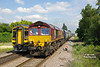 66126 approaches Brough at 15:57 on the 12th June 2014 with the 7H73 14:21 Hull Biomass - Drax Power Station.