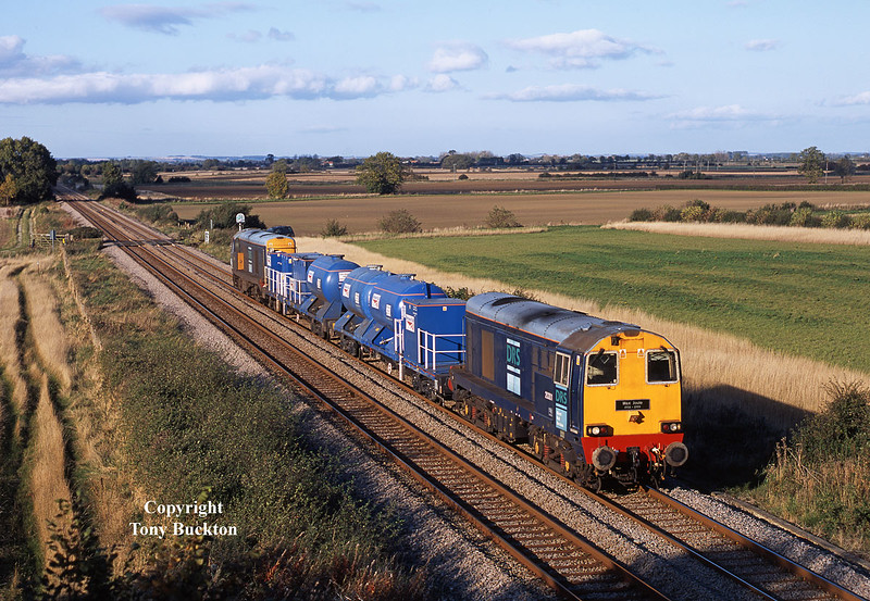 20301 leads the 3S11 York Works - York Works (Via Bridlington) RHTT as the consist approaches Beverley Northern bypass at 15:52 on the afternoon of October 13th 2008.