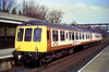 Unique in carrying South Yorkshire Transport livery, class 114 (53045 and 56004) calls at Hessle at aprox 14:00 on the 17th April 1984, en-route to Hull.