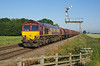 66003 passes Crabley Creek on Friday 3rd July 2015, with the 05:36 Masborough - Hedon Road Sidings steel hoods