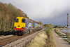Luck was on my side on Guy Fawkes Saturday 2016 as 20302 leads the 11:06 Stockbridge Works - York Thrall Europa railhead treatment train along the North bank of the Humber Estuary at Hessle Foreshore as dark clouds approach my position. The train departed Hull around 20 mins early and would have been unlikely to have passed in sunlight at its booked time.