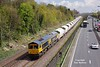 66716 passes Hessle at 11:46 on Thursday 28th April 2016 with the 6D72 11:23 Hull Dairycoates - Rylstone empty Tarmac hoppers.