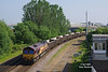 66053 approaches Hessle Road Junction, Hull, with the 10:44 New Biggin British Gypsum - Hull Coal Terminal at 17:05 on Thursday 25th May 2017,