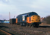 37713 stands dumped in Hedon Rd Sidings, Hull King George Dock at 12:33 on Thursday 14th January 1999, having failed on the previous mornings 6E33 Baglan Bay - Saltend.