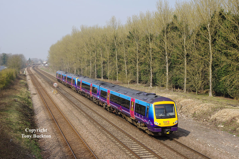 170309 passes Brickyard Lane Melton at 11:19 on Friday 10th April 2015 forming the 1K08 09:41 Manchester Piccadilly - Hull.