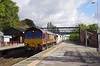 66040 passes Hessle at 11:54 on Wed 24th September 2014 with the 6D72 11:32 Hull Dairycoates - Rylstone empty Tarmac hoppers.