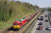 60074 passes Hessle at 13:12 on Thursday 6th April 2017 with the 12:25 Hedon Road Sidings - Masborough steel hoods.