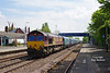 66221 heads through Ferriby to Drax Poweer Station at 11:13 on Wednesday 21st May 2014 with the 6H84 08:38 loaded Biomass hoppers from Hull Docks.