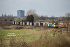 47847 awaits departure from Hessle Road Junction, Hull, with the 6D95 15:00 Hull Coal Terminal - Doncaster Down Decoy gypsum containers at 16:08 on Friday 20th March 2015.