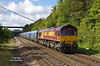 66132 passes Hessle at 11:49 on Wed 24th September 2014 with the late running Milford West Sidings - Hull Biomass LP.