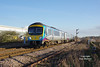 185131 passes Lowfield Lane, Melton, at 12:47 on Thursday Jan 5th 2017 forming the 1K17 13:39 Hull - Manchester Pic.