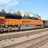 NS 735-06 [Georgia Power RW Scherer Plant, Juliette, GA - Memphis, TN/BNSF  <br /> BNSF 9009<br /> BNSF 6268<br /> RWSX cars<br /> DPU<br /> BNSF 8476<br /> BNSF 9834 SD70MAC<br /> northbound on joint CSX/NS trackage, at location NS Spring, Atlanta, GA