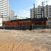 "New Train running on the ""Abandoned Wye""<br /> A751-07 Fairburn intermodal to Atlanta Hulsey intermodal turn.  <br /> BNSF 3976 running long hood forward, NS style."