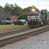 282-05 [Intermodal; Jacksonville, FL-Chicago, IL]<br /> NB NS 9024 (C44-9W)<br /> NS 9550 (C44-9W)<br /> <br /> 44 platforms intermodal (only 4 pigs). #2 to main at NS Austell, Austell, GA.<br /> He crosses back over into Whitaker Yard at England... believe the dispatcher<br /> coded him in advance to not be delayed by the rear of 231 going into the yard.