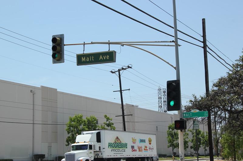 Malt Ave sign at Slauson