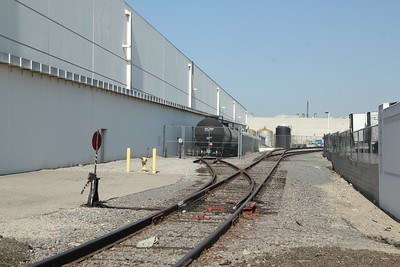 LeVecke Corp. looking west from Dulles.  Bottler of spirits, rum, whiskey, etc. tankcar is placarded 3065 Alcoholic Beverages