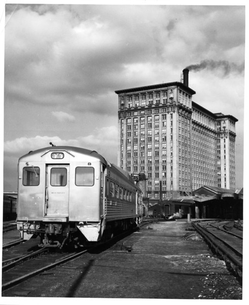 1950's New York Central, Detroit, Michigan.<br /> <br /> Michigan Central Depot.