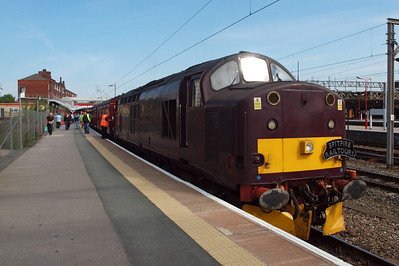 37706 on arrival at Crewe's platform 12.