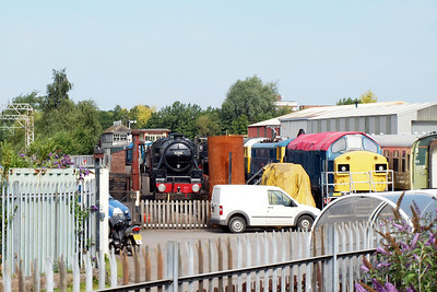 45305 at Crewe Heritage Centre, 37108 on the right.