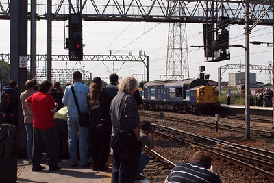 Cranks galore out for the Class 37s at Crewe.