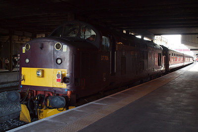 37706 on the rear of the train at Crewe.