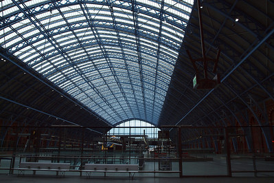 The Barlow train shed at London St Pancras International.