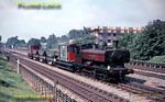 London Transport 0-6-0PT No. L94 (ex-GWR & BR No. 7752) trundles along the up fast line at Pinner Green with a ballast train, presumably working back to Neasden depot, but where it had come from I do not know! Thursday 8th September 1966. Slide No. 2532.
