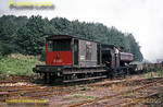 LT 0-6-0PT No. L94 shunting wagons on the tip at Croxley, sorting out full and empties before making up a train of empty wagons to return to Neasden depot. May 1968. Slide No. 3282.