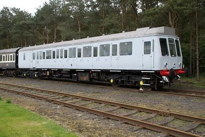 Class 117 DMU 51352 in undercoat  05/05/12.