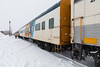 Long Polar Bear Express due to Mushkegowuk Cup traffic. Eight coaches, two food cars and two Auxiliary Power Units (APU).