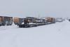 Head end cars moving toward Polar Bear Express.