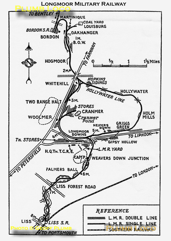 Map of the Longmoor Railway System.