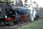 """Having run-round the train, """"Gordon"""" has coupled up to AD195 and is now raring to go, double-headed to Longmoor Downs. Saturday 16th April 1966. Slide No. 1946."""
