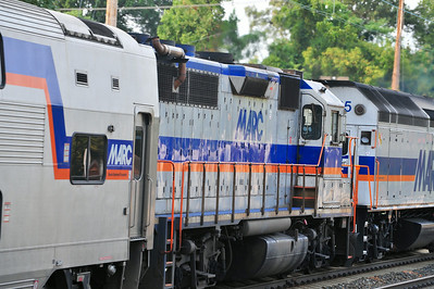 One of MARC few remaining GP-39's helps shove train 447 back to DC.
