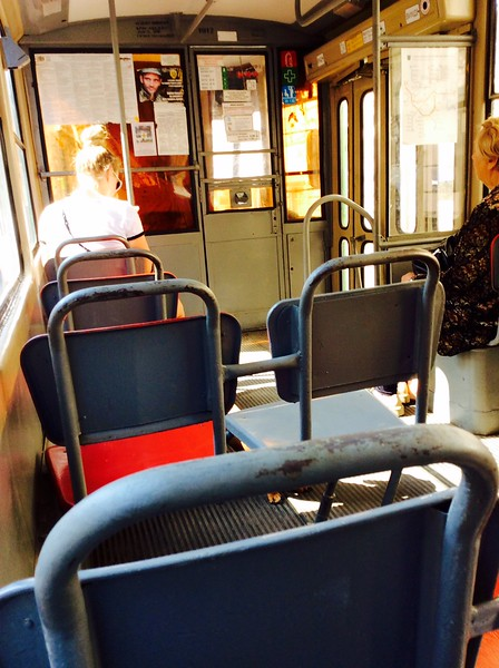 Typical tram interior