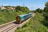 158828 passes Portskewett forming the 11.45 Cheltenham Spa to Maesteg service. Friday 27th July 2012.