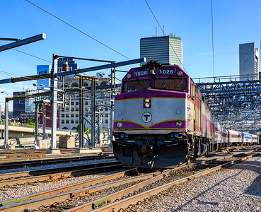 The right train with the wrong engine. MBTA 1026 subbed in for one of the Blue MassDOT locomotives on the second day of 2019 Capeflyer season.