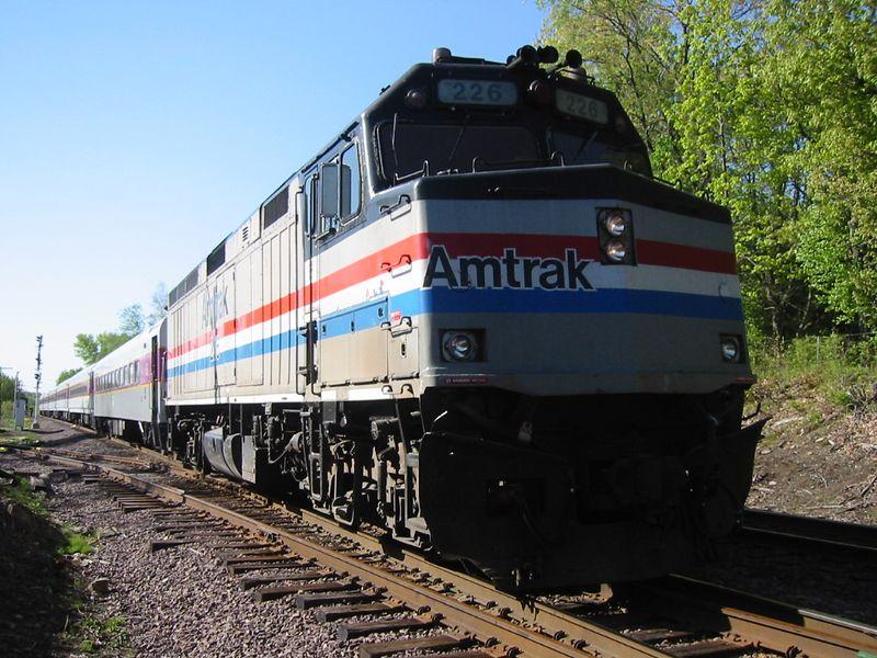 Here Amtrak #226 turns at Rosemont.